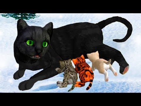СИМУЛЯТОР Маленького КОТЕНКА #25 Мир кошек и котов с Кидом. Челлендж - победить всех Боссов зимой