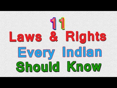 11 Laws And Rights Every Indian Should Be Aware Of, What are the must know laws for a Indian