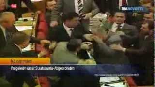 Prügelei in der Duma: Russische Parlamentarier lassen die Fäuste sprechen