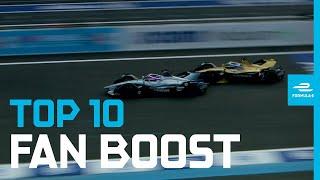 Top 10 Moments: FANBOOST! | ABB FIA Formula E Championship