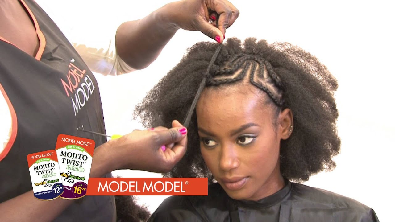 Model Model Hair Styles Model Model Mojito Twist Installation Crochet Style  Youtube
