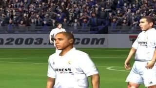 PC Retro FIFA 2003 Gameplay FC Barcelona vs Real Madrid