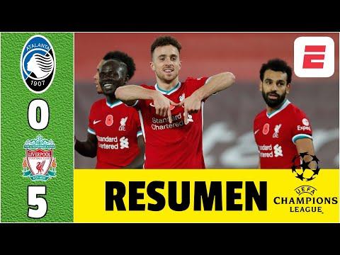 Atalanta 0-5 Liverpool. HUMILLAN a Zapata, Muriel y al Papu. GOLES de Salah, Mané y Jota   Champions