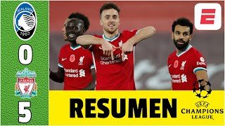 Atalanta 0-5 Liverpool. HUMILLAN a Zapata, Muriel y al Papu. GOLES de Salah, Mané y Jota | Champions