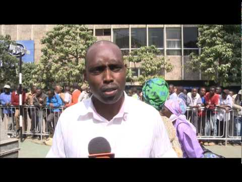 Dedan Kimathi's Grandson Chains Himself To Monument