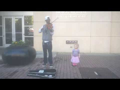 Downtown Fayetteville, NC. Violinist