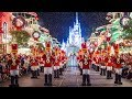 Mickey's Once Upon A Christmastime Parade at Very Merry Christmas Party - with Princesses, Frozen