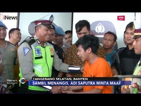 Adi Saputra, Perusak Motor saat Ditilang Minta Maaf dan Menangis - iNews Malam 08/02