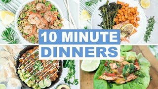 EASY 10 Minute Dinner Recipes | Healthy Dinner Ideas | Keto and Paleo Recipes