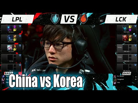 LPL vs LCK | Day 2 LoL All-Star 2015 in Los Angeles | China (ICE) vs Korea (FIRE) Allstar
