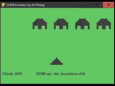 CHIP 8 emulator made with Python - Custom designs by Plrang Art