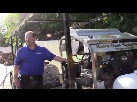 Hydro-Chem Systems training 3,500 PSI @ 9 GPM HW pressure washer & 6 stage filtration trailer