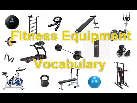 Fitness Equipment Word List | English Vocabulary