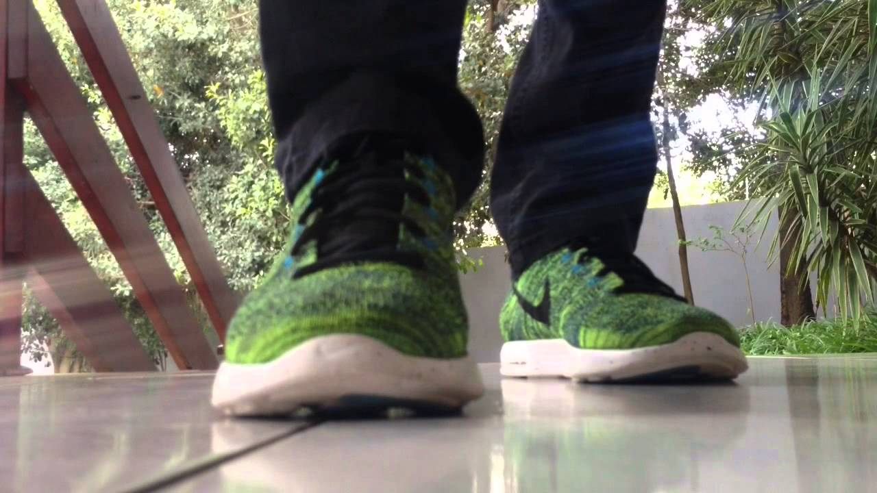 new arrival dfd4b 6fccb Nike lunar Flyknit chukka  On feet - YouTube