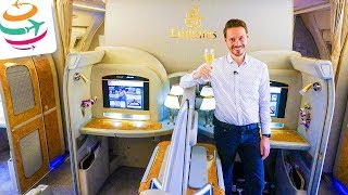LUXUS überall!! EMIRATES First Class 777-300ER | GlobalTraveler.TV