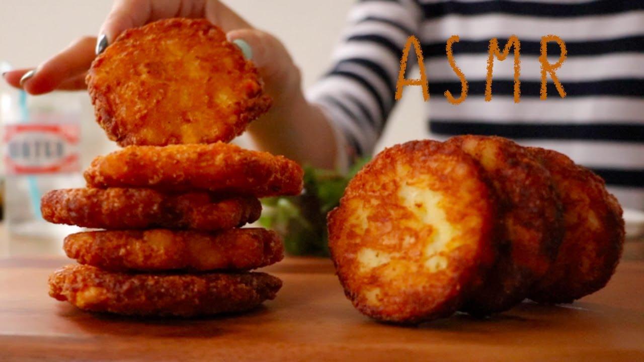 【咀嚼音/ASMR-音質改善-】ハッシュドポテトを食べる音 Hash browns Eating Sounds