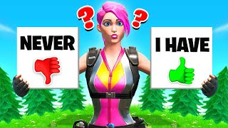 PLAYING Never Have I ever FOR OUR LOOT (Fortnite)
