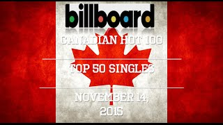 Billboard Hot 100: Top 50 Canadian Singles of 11/14/15