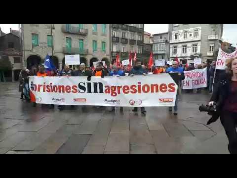 Manifestación de los funcionarios de prisiones en Pontevedra