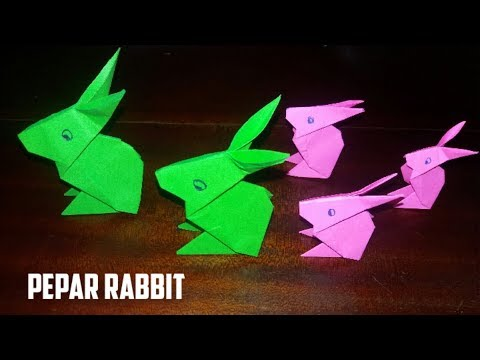 How to make a paper rabbit / creating paper rabbit/DIY paper craft/ Arts Colors