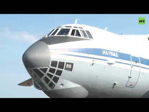 Военные самолёты Ан-12 и Ил-76 отработали посадку в степи — видео