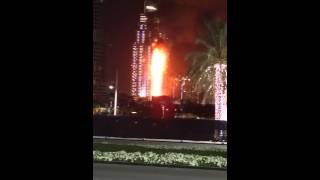 Fire accident in Burj Khalifa Video | 2016 New Year Celebration Fire Accident Dubai