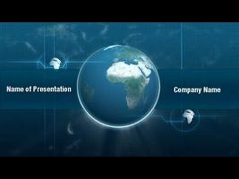 planet earth powerpoint video template backgrounds, Presentation templates