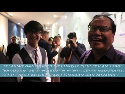 """Gala Premiere Film """"Dilan 1990"""", Apa yang Disampaikan Rizal Ramli kepada Pidi Baiq?"""