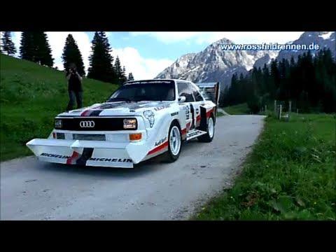 "Audi Quattro S1 ""Pikes Peak"", BMW 700 RS, Bugatti Typ 37 am Roßfeld bei Berchtesgaden"