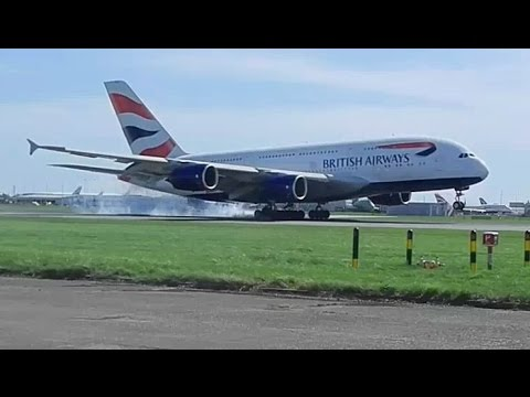 Plane spotting London Heathrow Airport landing heavies