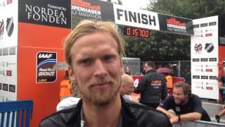 Christian Poulsen efter veloverstået Copenhagen Half Marathon 2015