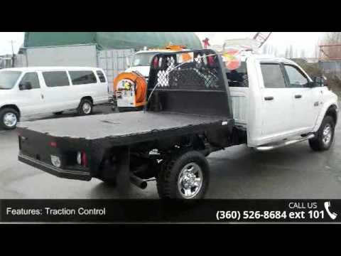 2012 Dodge Ram 3500HD SLT Crew Cab Flatdeck with Compress...