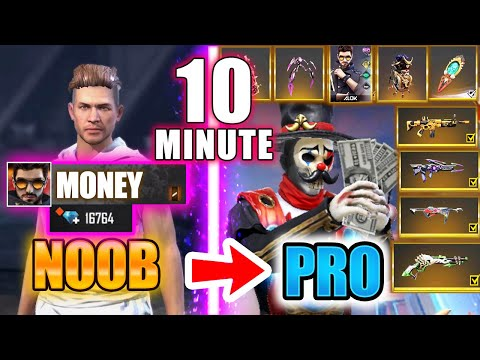 Free Fire new account to *PRO* gift in 10 min - look how it became😱🔥