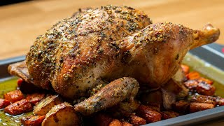 Hearty Whole Roasted Chicken • Tasty