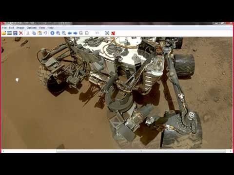 curiosity rover selfie- Who took the picture