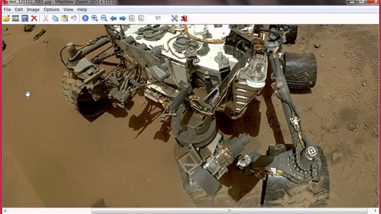 Curiosity Rover Wheel Selfie - Pics about space