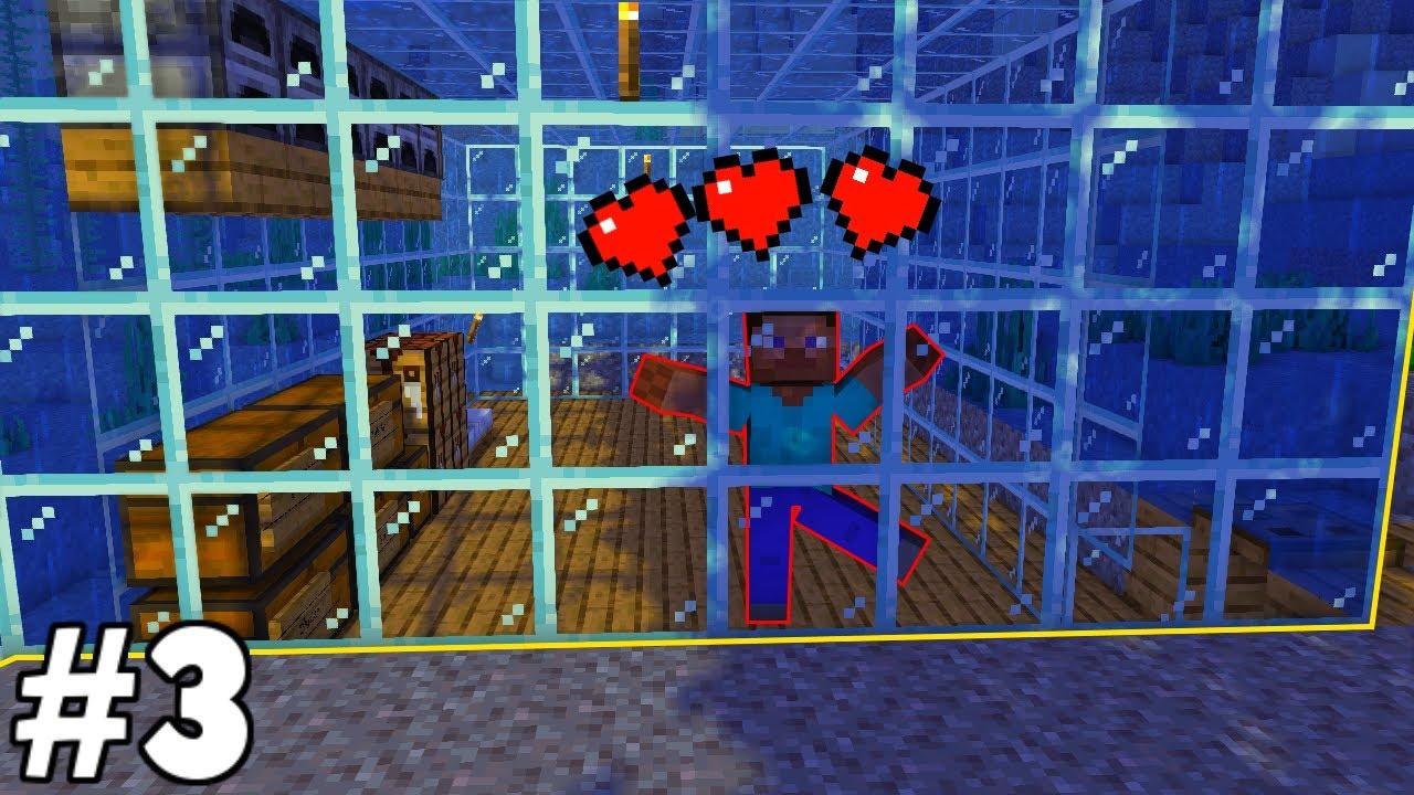 SU ALTI EVİ YAPTIM!! 🌊 - Minecraft Survival Bölüm #3