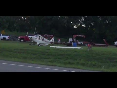 Emergency Landed Small Plane Hauling Lady Antebellum Banner for CMA Fest Nashville