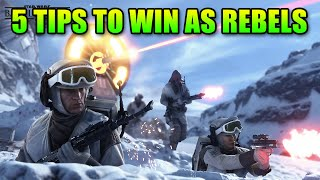 5 Tips - How To Win Hoth Walker Assault As Rebels | Star Wars Battlefront Beta