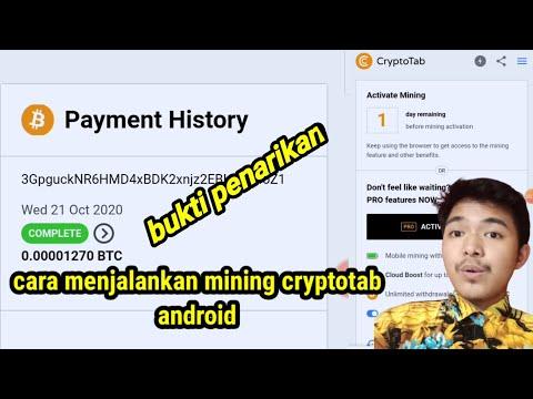 Cara Menjalankan Mining Bitcoin Di Cryptotab Browser Android Dan Bukti Withdraw