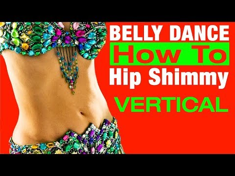 How to Belly Dance Hip Shimmy VERTICAL - Jensuya Belly Dance