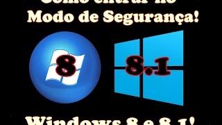 """Como Entrar no """"Modo de Segurança"""" nos Windows 8 e 8.1!"""