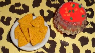 How To Make A Doll/lps Nachos + Salsa Dip - Easy Lps Crafts & Doll Crafts