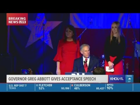 Greg Abbott re-elected Governor of Texas