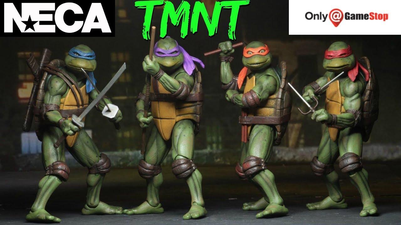 NECA Teenage Mutant Ninja Turtles 90/'s Bundle Set of 4 Gamestop Exclusive Figure