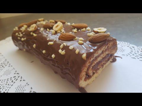 ❄❄-bÛche-de-noËl-roulee-au-chocolat-❄❄-(-recette-hyper-facile-et-rapide-)