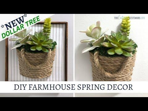 New Dollar Tree Farmhouse Spring Decor DIYs
