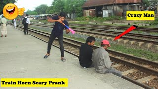 Train Horn Prank | The Best Of Train Horn Scary Prank 2021 || Top Funny Prank Clips