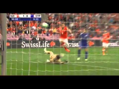 Siegtreffer durch Haris Seferovic (WM-Quali, Schweiz 1:0 Zypern, 08.06.13)