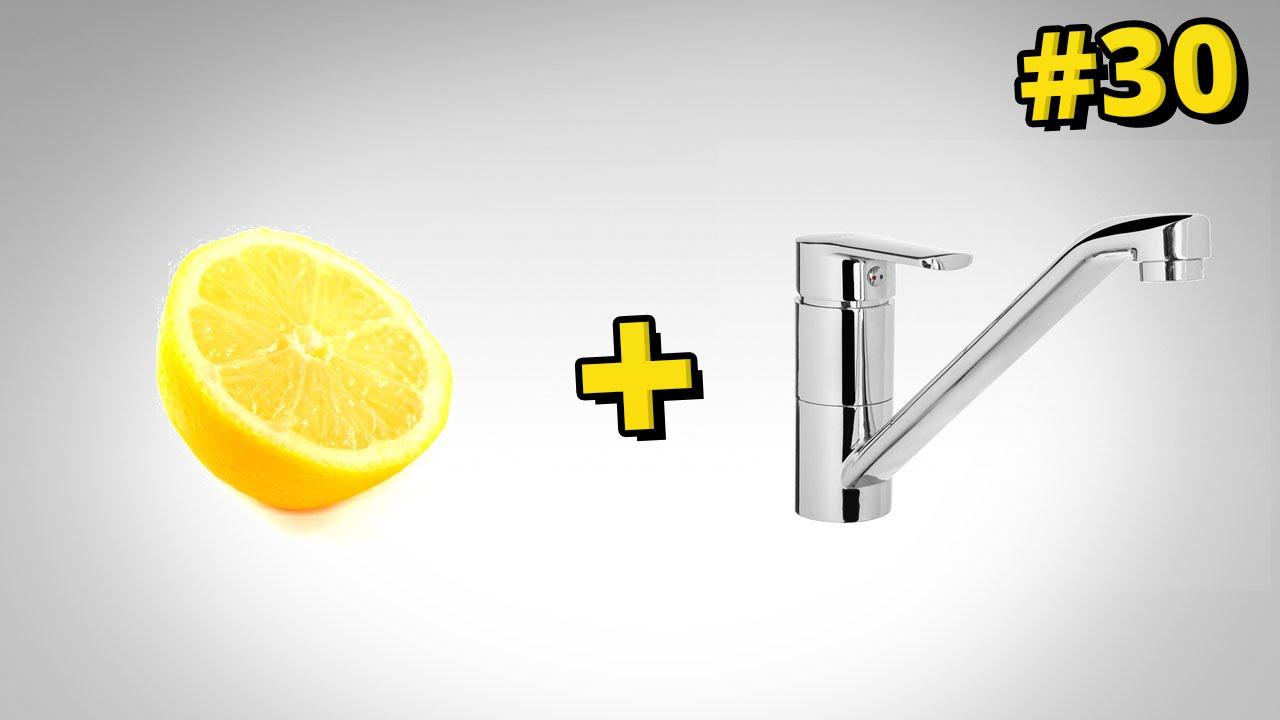 Jak wyczyścić kran przy pomocy cytryny